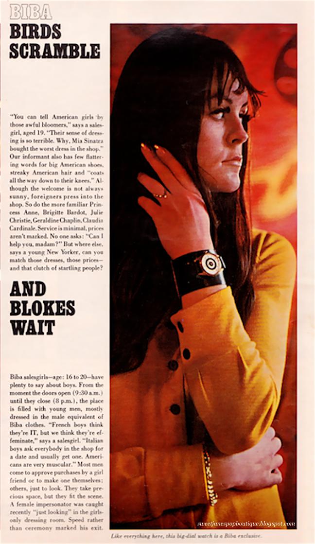 BIBA SALES GIRL 1967