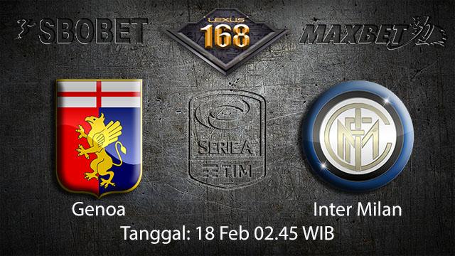 PREDIKSIBOLA - PREDIKSI TARUHAN BOLA GENOA VS INTER MILAN  18 FEBRUARI 2018 ( ITALIAN SERIE A )