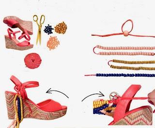 Boncuklarla Ayakkabı Süsleme Resimli Anlatımı