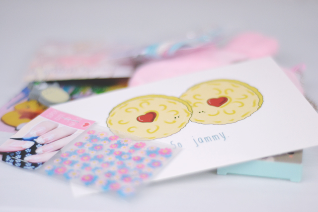 Cute Jammie Dodger postcard
