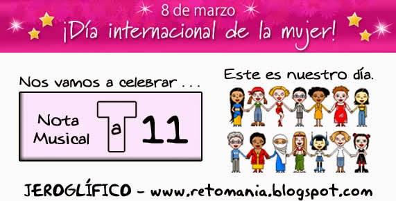 Jeroglíficos, Jeroglíficos escolares, Jeroglíficos para niños, Jeroglíficos con solución, Retos matemáticos, Desafíos matemáticos, Problemas matemáticos, Retos para pensar, Problemas de lógica, Día de la mujer