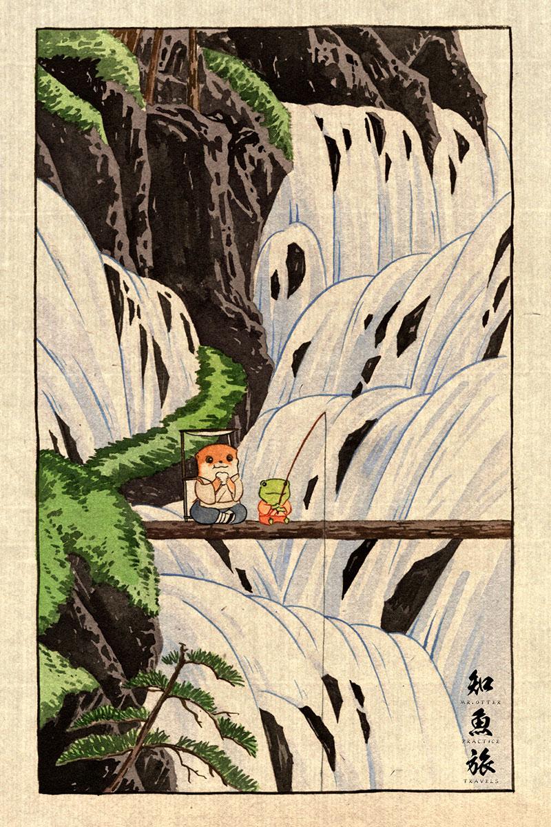 simon-lee-01 Mr.Otter's Practice Travels: Illustrations by Simon Lee Design