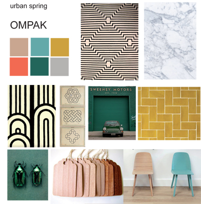 moodboard ompak giftwrap urban spring collection by jurianne matter