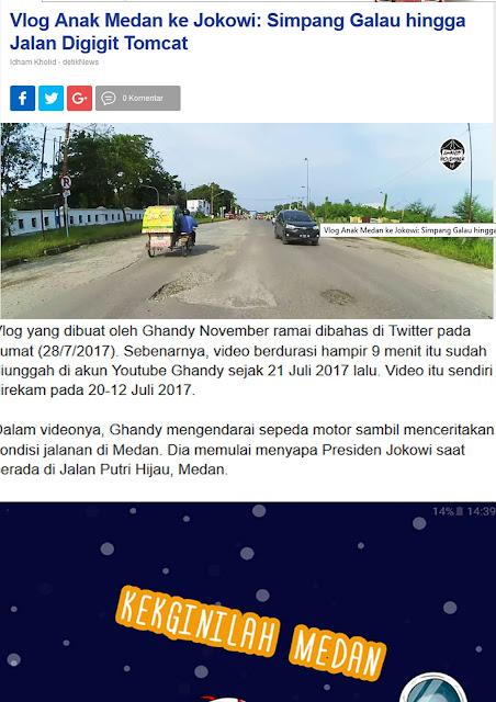 Vlog Anak Medan untuk Pak Jokowi