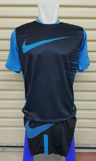 gambar detail jersey futsal terbaru dan terkini Jersey setelan futsal Nike Flash Top warna biru hitam terbaru 2015/2016