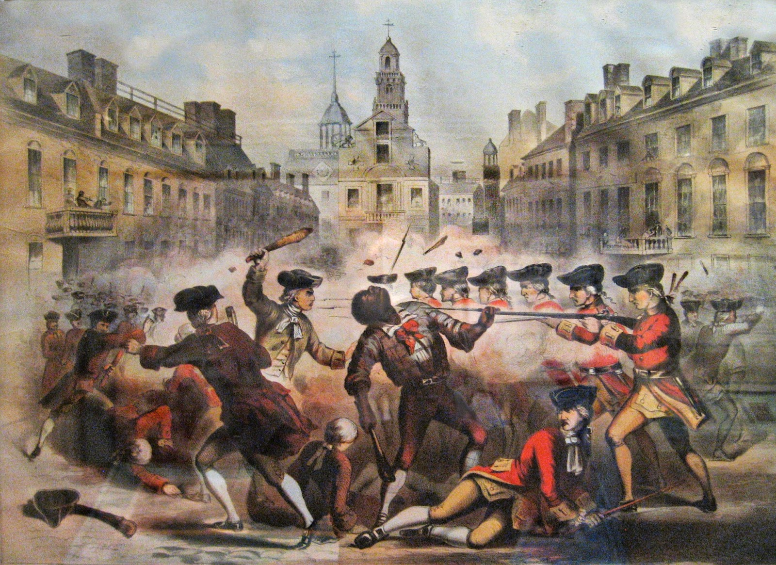 the role of the british soldiers in the boston massacre of 1770 By the beginning of 1770, there were 4,000 british soldiers in boston, a city with 15,000 inhabitants, and tensions were running high on the evening of march 5, crowds of day laborers, apprentices, and merchant sailors began to pelt british soldiers with snowballs and rocks.