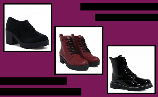 Sapatos  tratorados e coturnos da loja Zariff