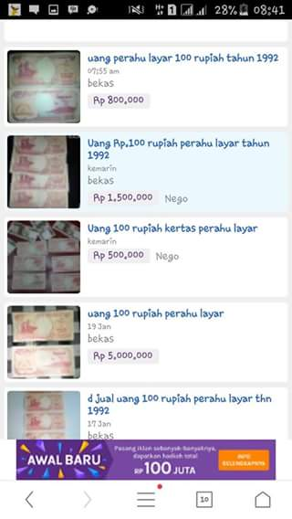 Uang Kertas Rp. 100