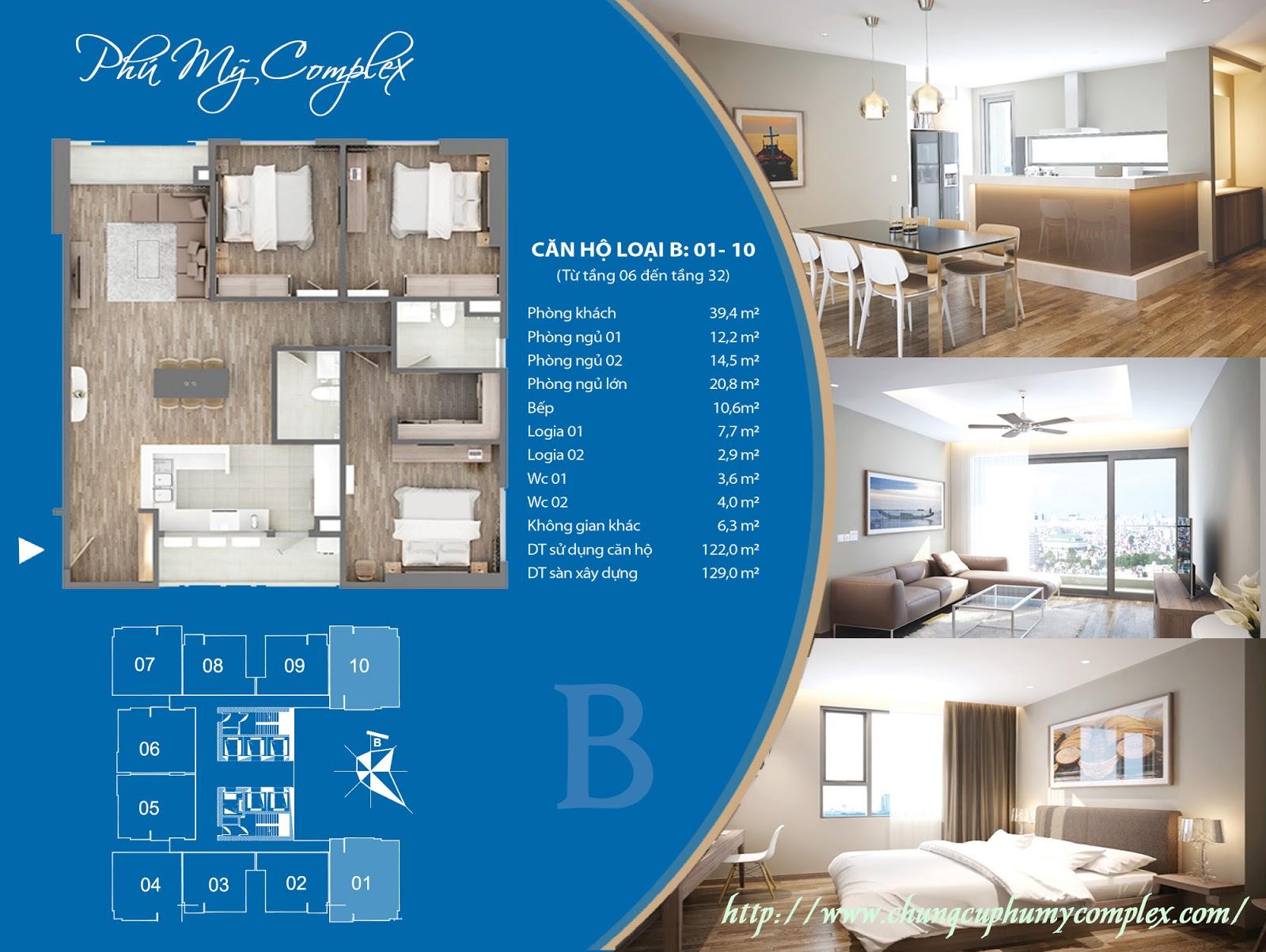 Thiết kế căn 01 và 10 - Chung cư Phú Mỹ Complex