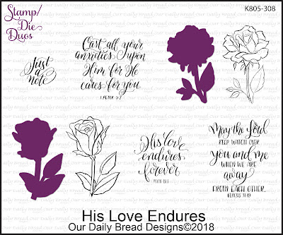 Stamp/Die Duos: His Love Endures