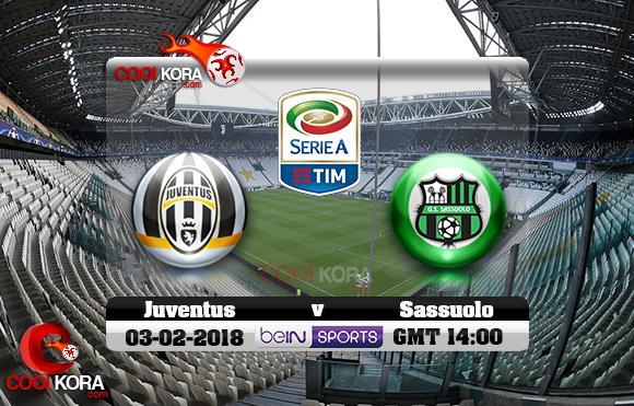 مشاهدة مباراة يوفنتوس وساسولو اليوم 4-2-2018 في الدوري الإيطالي