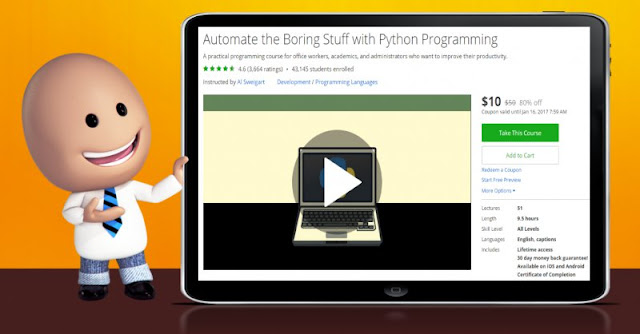 [80% Off] Automate the Boring Stuff with Python Programming  Worth 50$