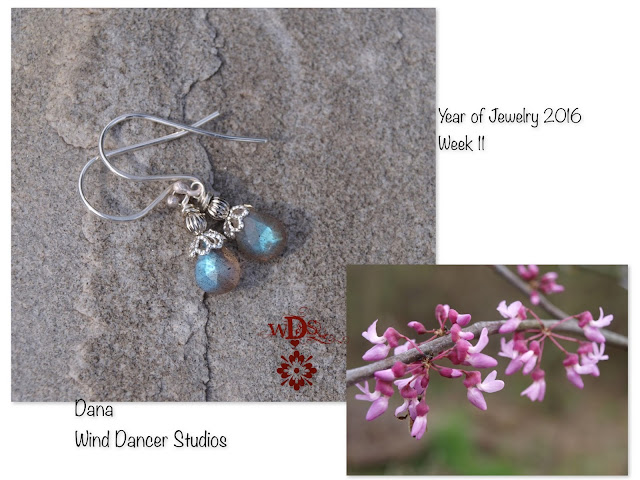 Wind Dancer Studios: Year of Jewelry; week 11, Labradorite earrings
