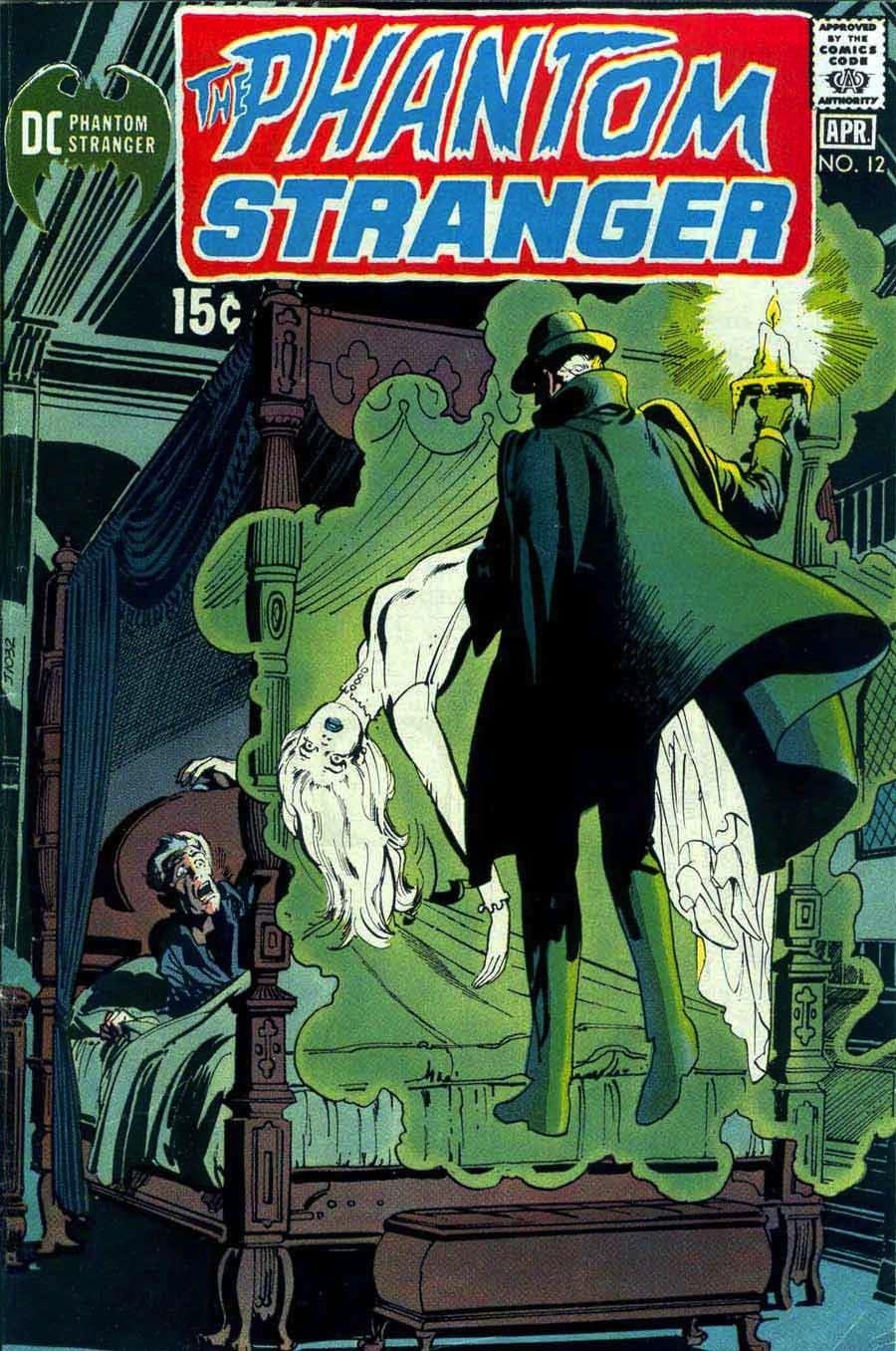 Phantom Stranger v2 #12 - 1970s dc horror comic book cover art by Neal Adams