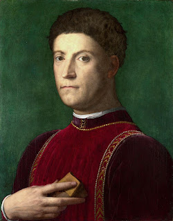 Piero di Cosimo de' Medici, depicted in a  16th century painting by Bronzino