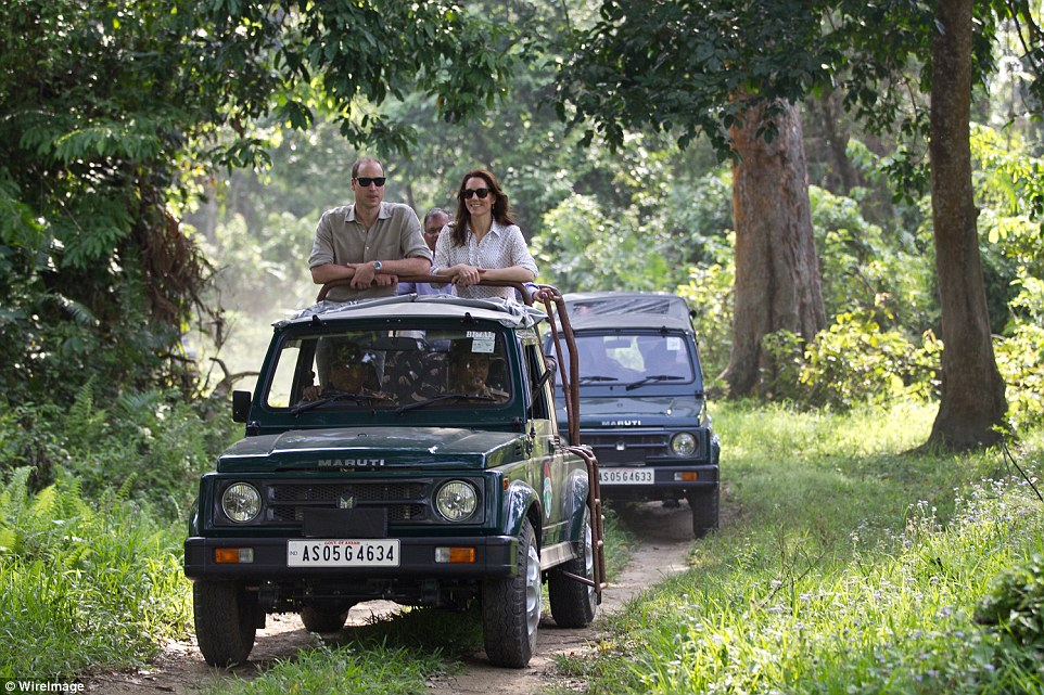 Kate and William embarked upon a safari in Assam, India