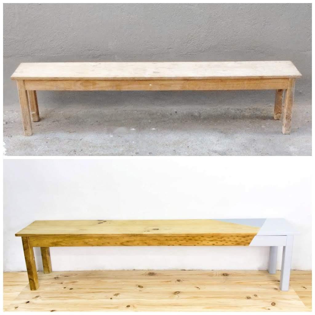 Antes y después - Banco de madera - Studio Alis