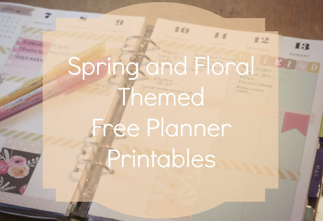 spring floral themed free planner printables