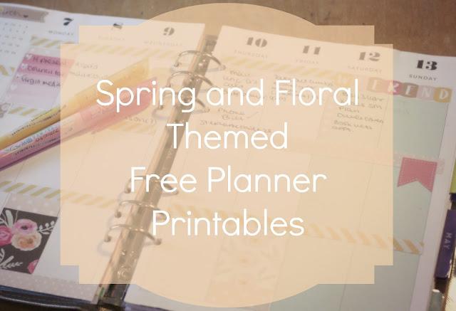 spring floral themed free planner printables