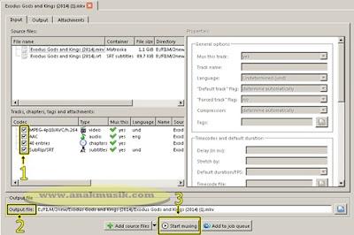 Cara Menggabungkan Video Dengan Subtitle Permanen Menggunakan MKVToolNix GUI