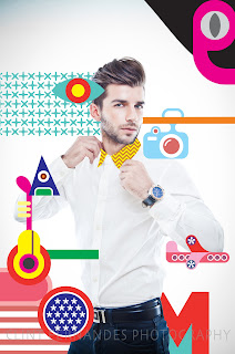 quirky modern graphic art Plain white shirt Bvlgari watches Zara Sher Singh