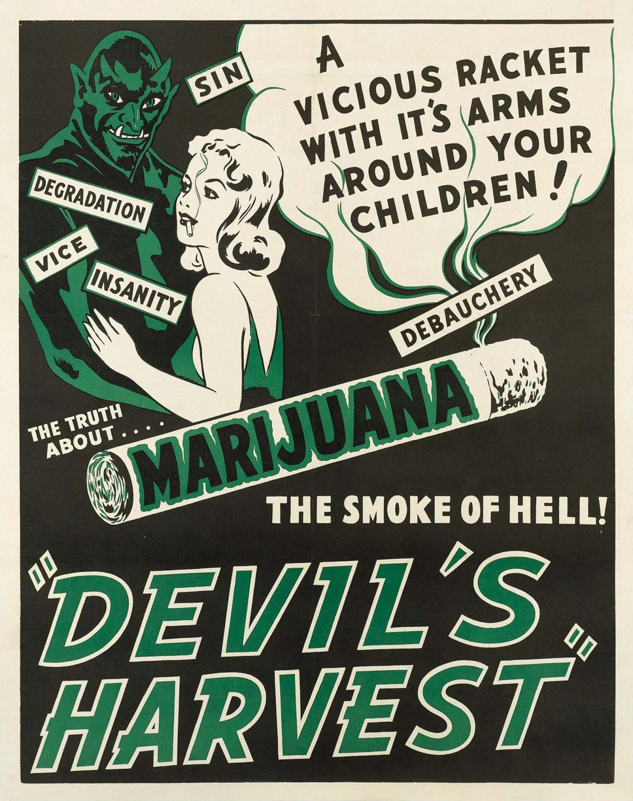 Anti-weed movie poster. 1942.