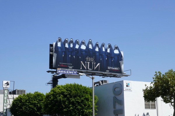 Nun cut-out billboard