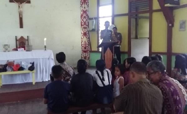 Polres Sekadau Ajak Jemaat Gereja Jaga Persatuan & Dukung Polri Lawan Terorisme