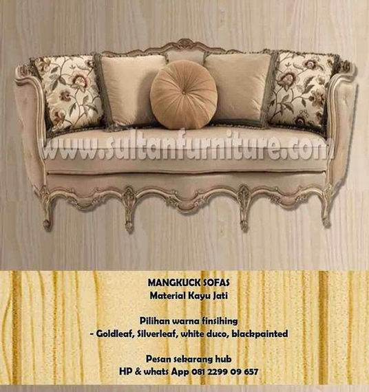 Sofa Ukir Classic French Gold Leaf Furniture Indonesia