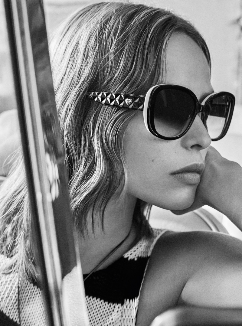 Birgit Kos wears sunglasses in Twinset spring summer 2019 campaign