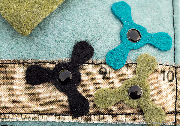 Layers of ink - Fidget Spinner Bag Tutorial by Anna-Karin