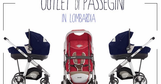 Arriva la cicogna: Outlet di passeggini e trio in Lombardia