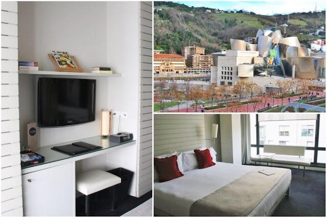 Hotel Miro en Bilbao frente al Museo Guggenheim – Habitacion – Vistas desde la habitación