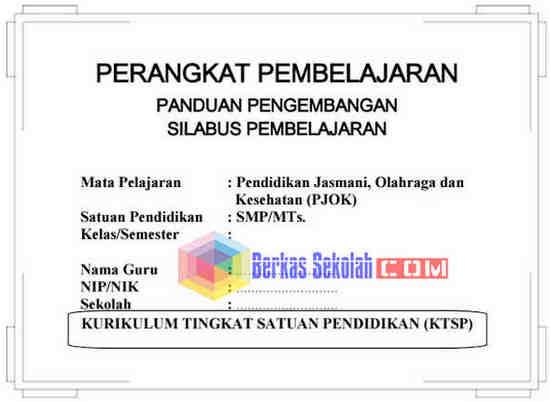 Perangkat Pembelajaran PENJAS SMP/MTs Kelas 9 KTSP