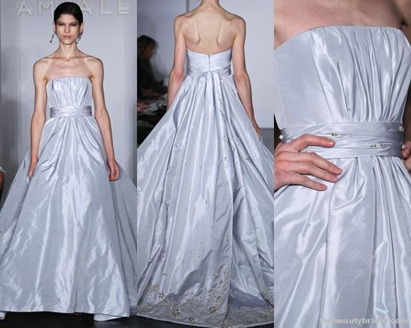chất liệu vải Silk Taffeta amsale-FRANCHESC-gown