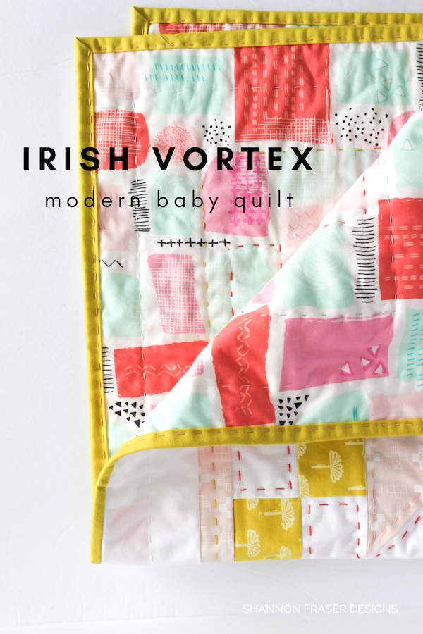 Irish Vortex Quilt Pattern | Modern baby quilt | DIY gift ideas | Shannon Fraser Designs