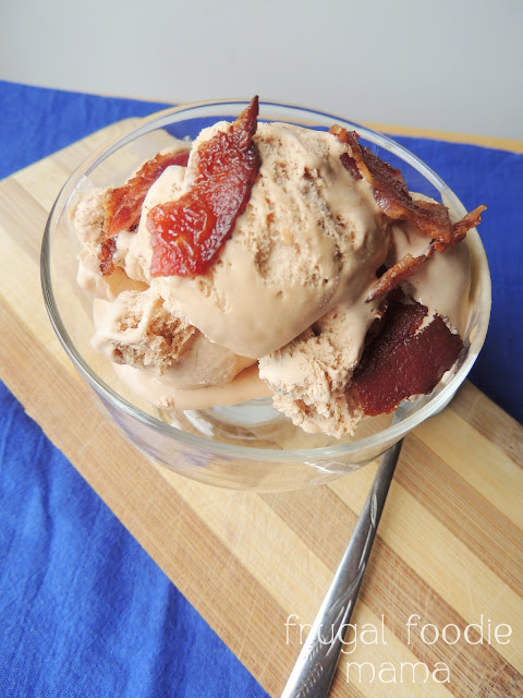 Buttery caramel ice cream is infused with smoky bacon & studded with crunchy cashews in this creamy Caramel Bacon Cashew Ice Cream.