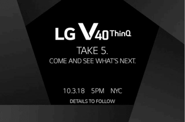 LG V40 ThinQ with Five-Camera Officially Coming on October 3