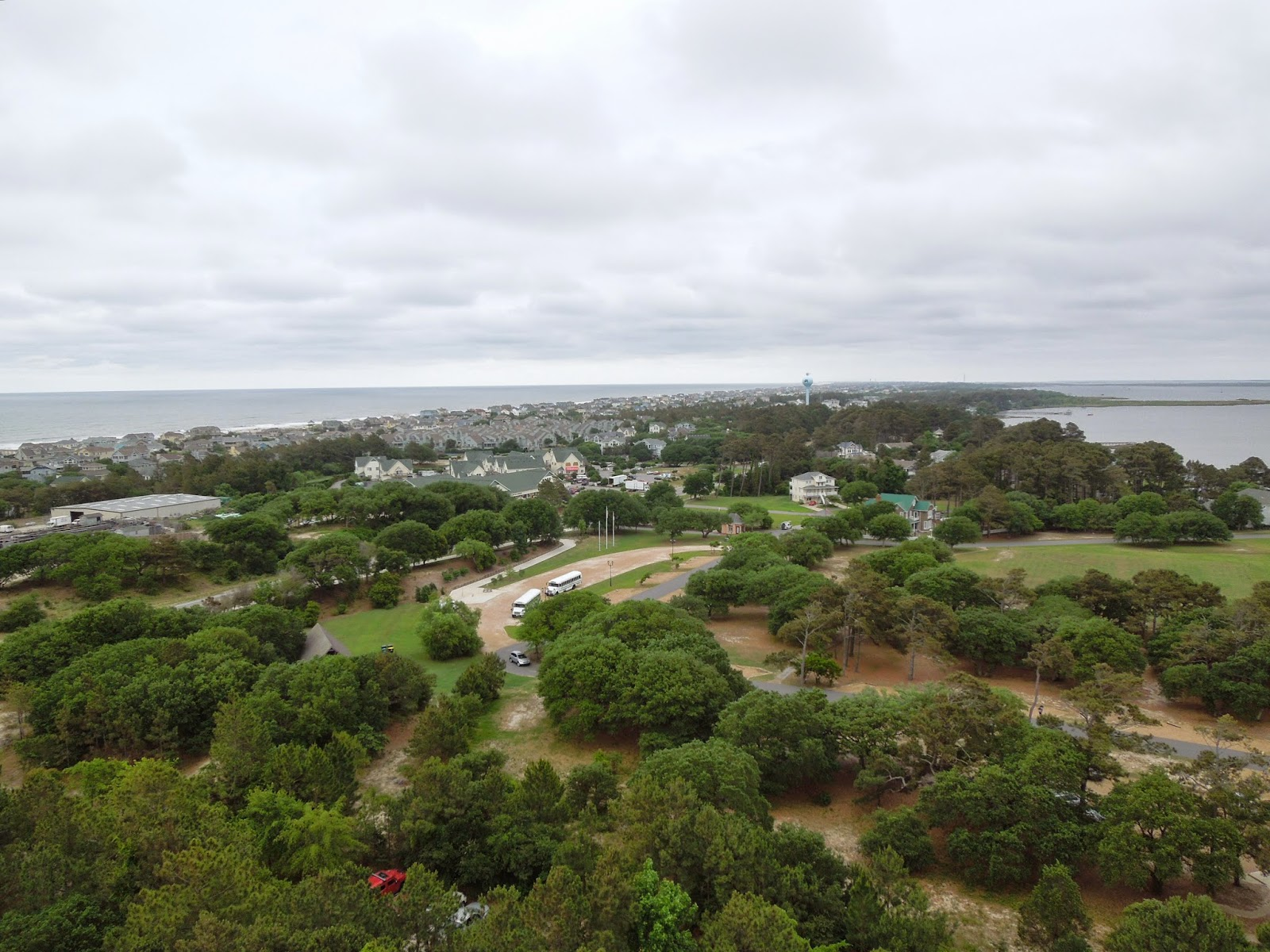view from the top of Currituck Beach Lighthouse