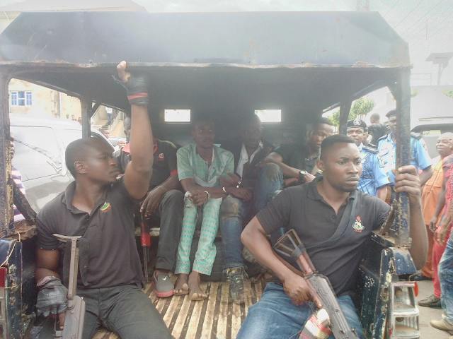 photos of Thugs that invaded Abia APC Secretariat and carted away valuables
