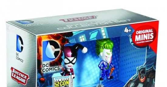 Harley Quinn /& Joker DC Comics Original Minis Collector Set SDCC 2015 Exclusive