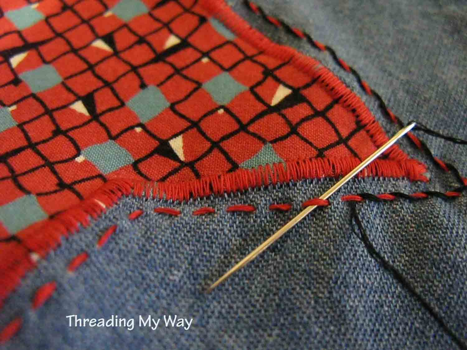 Threading my way: appliqué on a little shopper tote