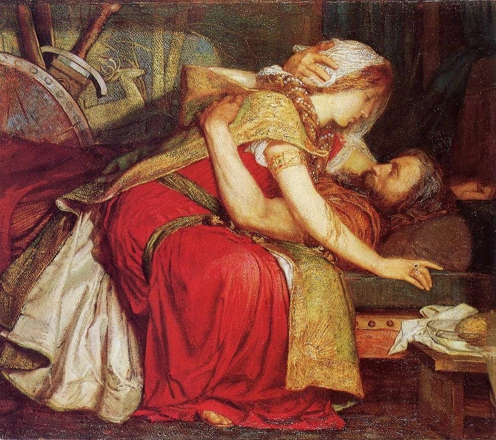 Marianne Stokes (British, 1855-1927) | Tristram's Death, 1902