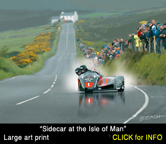 sidecar at Creg Na Baa Isle Of Man TT