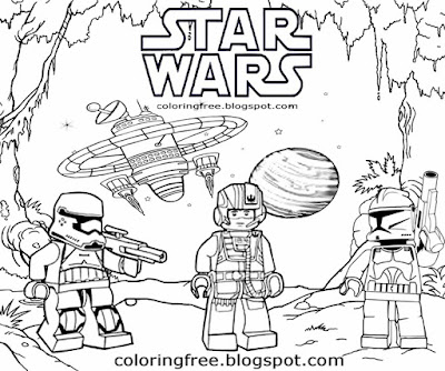 Printable space trooper drawing star wars Lego coloring pages for teenagers black and white clipart