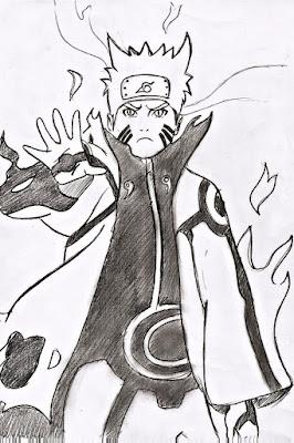 Komik Naruto bisa mewarnai  model marah