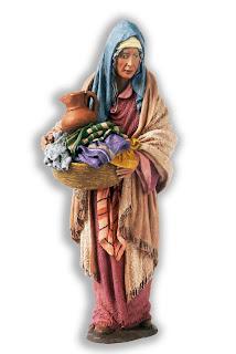 mujer mayor comadrona hebrea para belenes de 12 cm.