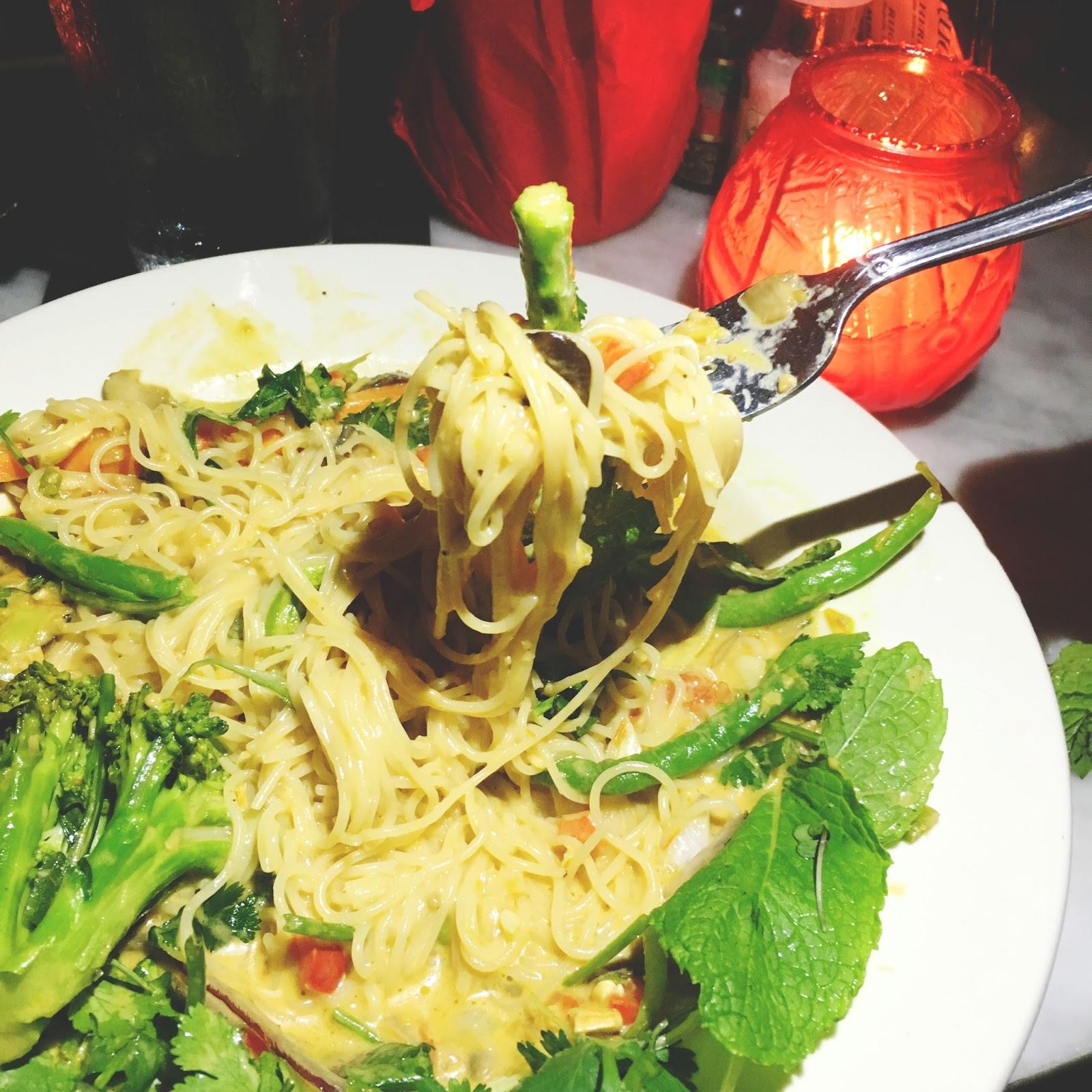 vegetarian masala pasta at Ruggles Black - a restaurant in Houston, Texas