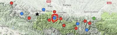 Col du Soulor op kaart Frankrijk