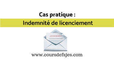 indemnité de licenciement